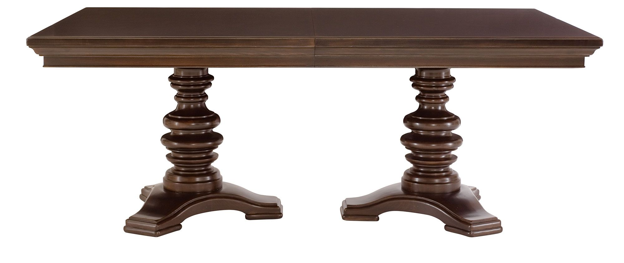 Dining Table Top And Double Pedestal Dining Table Base Bernhardt