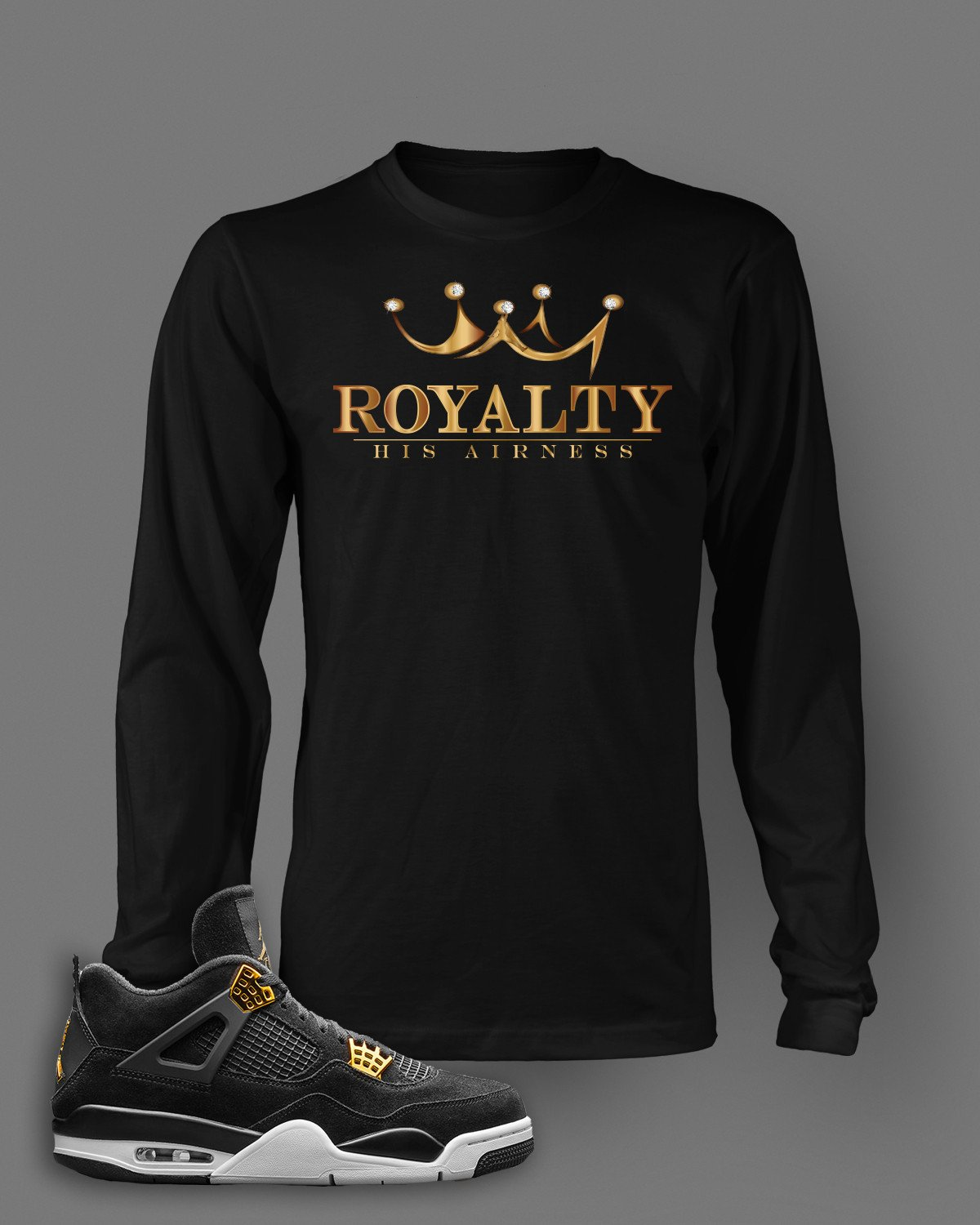 8113eb78c71c ... Match Jordan 4 royalty shirts retro 4 royalty sneaker tees. Jordan 4  Royalty Tees Shirts ...