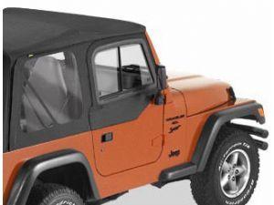 Bestop Upper Door Sliders For 97 06 Jeep Wrangler Tj Unlimited Jeep Half Doors Jeep Wrangler Jeep Wrangler Tj