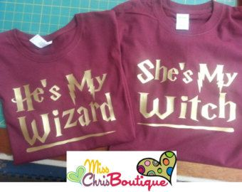 199a2f28 Harry potter couple shirts – Etsy | Wizarding World visit in 2019 ...