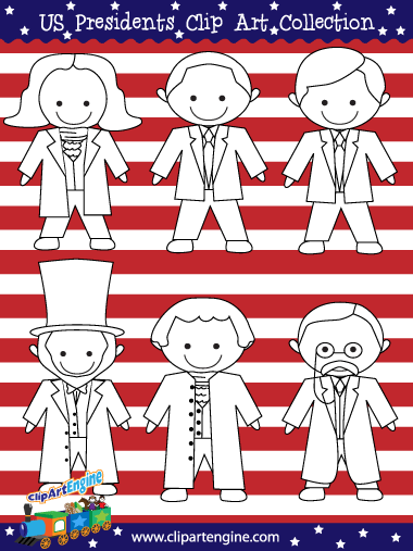 Presidents of the United States of America Line Art