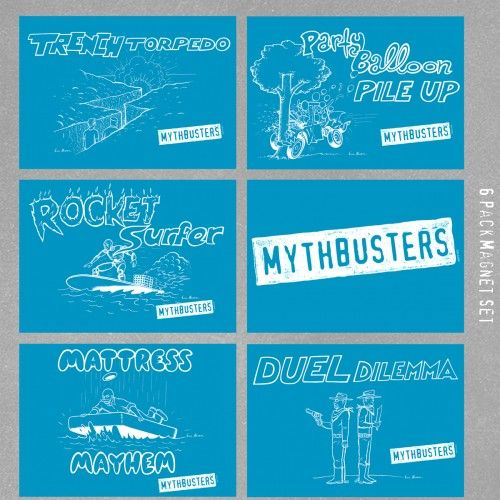MythBusters Blueprint Magnets Set to buy Pinterest Magnets - copy blueprint of a book