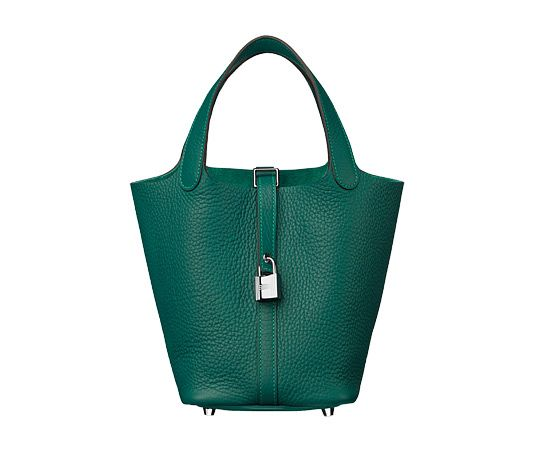 Hermes Picotin Lock bag in malachite green taurillon