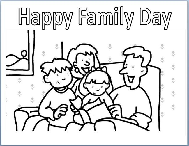 Family Day Family Coloring Pages Coloring Pages Coloring Books