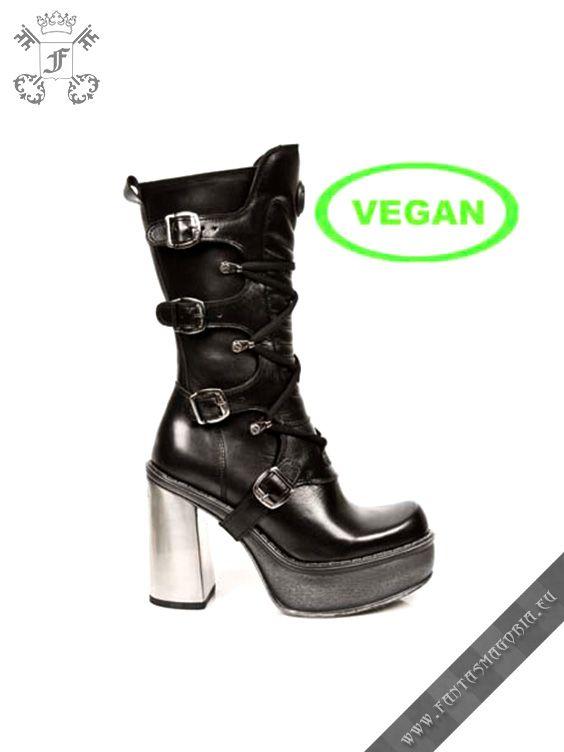 Steel heel vegan boots