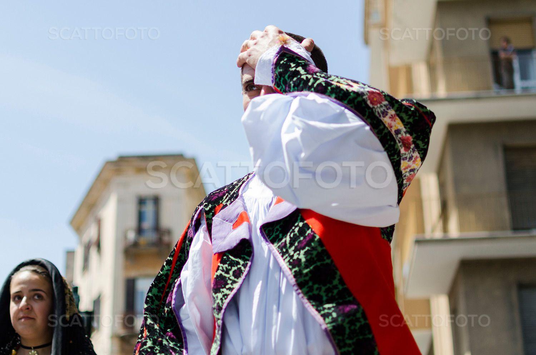 Parade of traditional Sardinian costumes