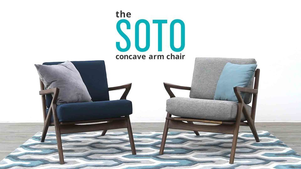 Soto Concave Arm Chair Mid Century Modern Chair Joybird Retro