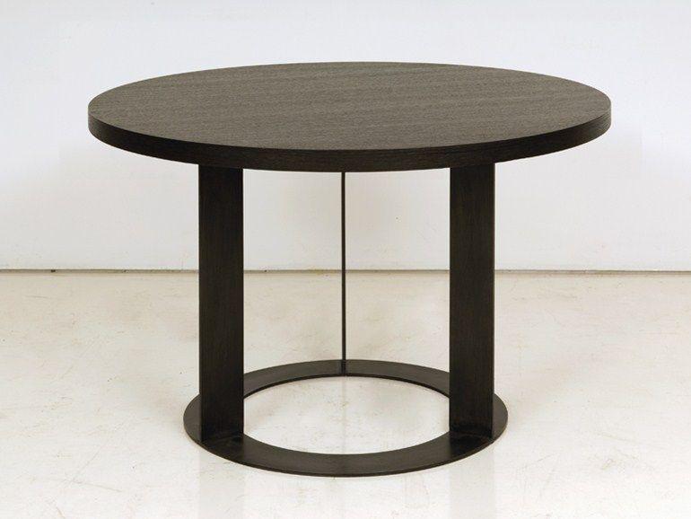 Merveilleux Round Wooden Dining Table Delhi Collection By INTERNI EDITION | Design  Janine Vandebosch