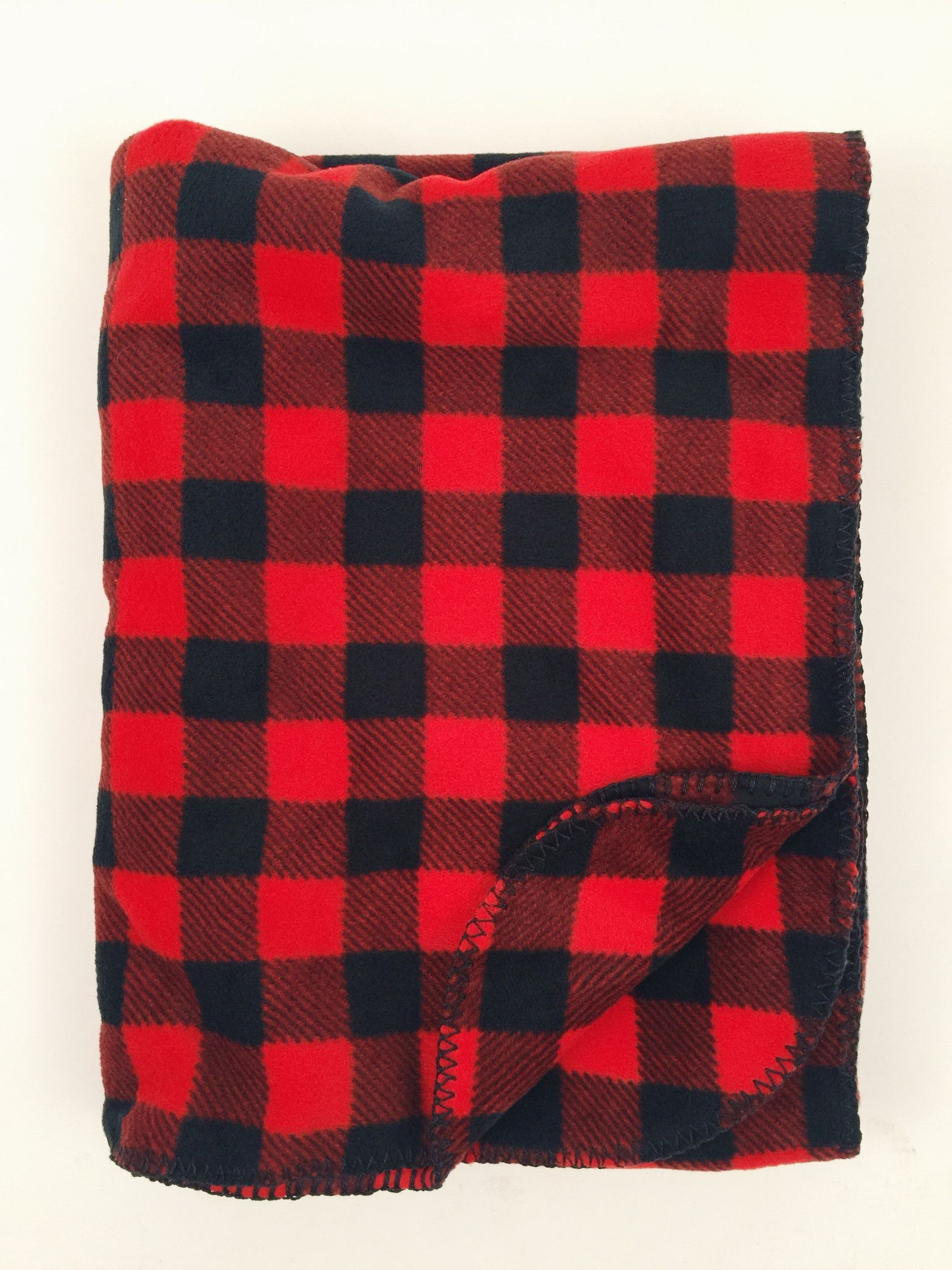 Rockmount buffalo check fleece blanket blanket and baby gear