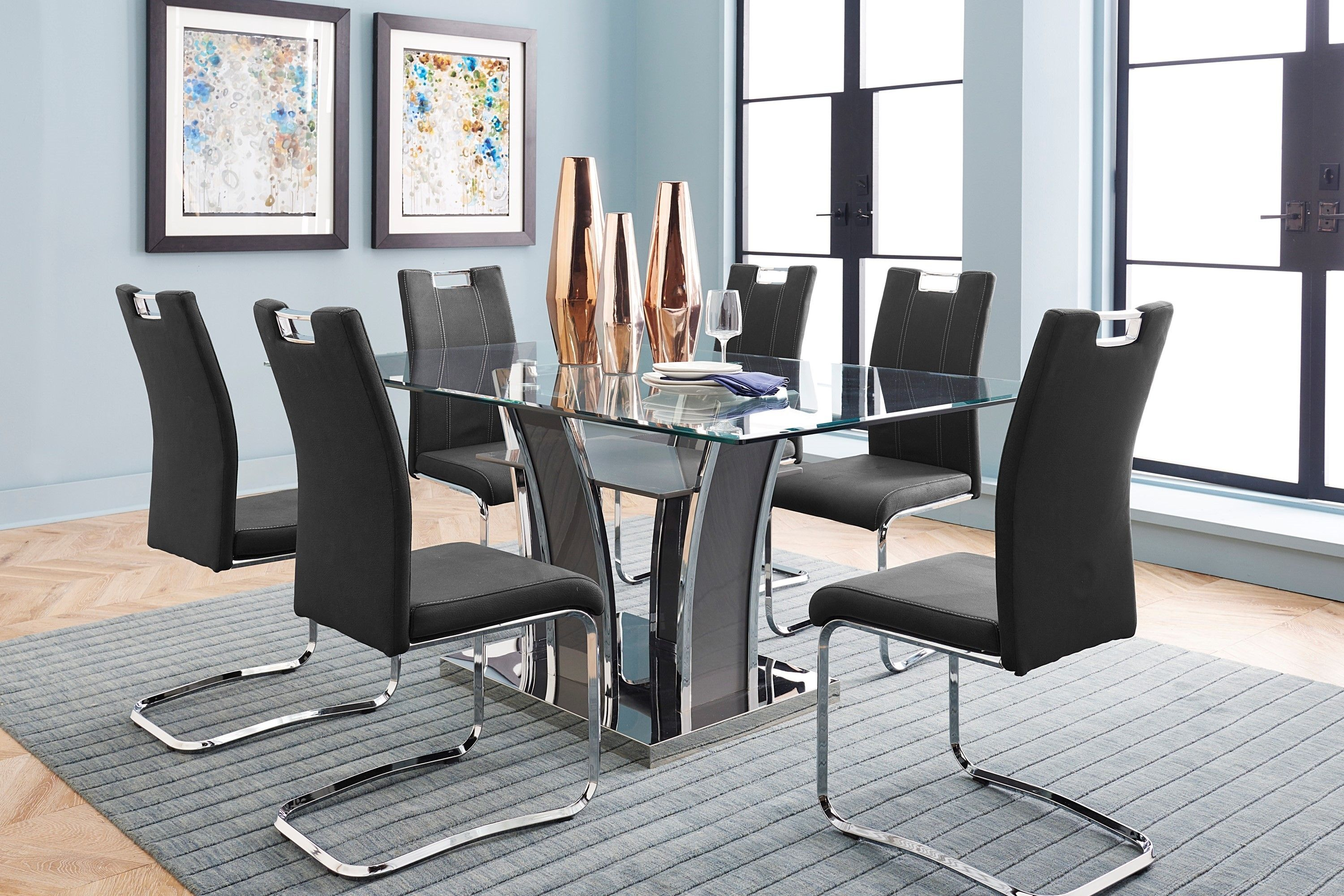 The Ultra Dining Room Is Ultra Sleek And Modern This Set Adds A