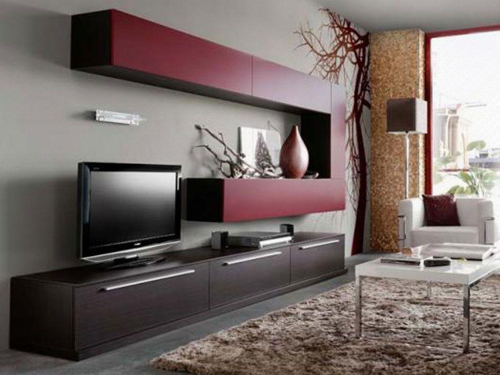 Resultado De Imagen Para Centro De Entretenimiento Empotrado En La  # Muebles Wengue Color Paredes
