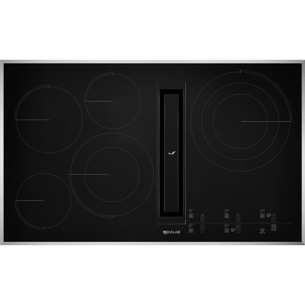 36 Jx3 Electric Downdraft Cooktop With