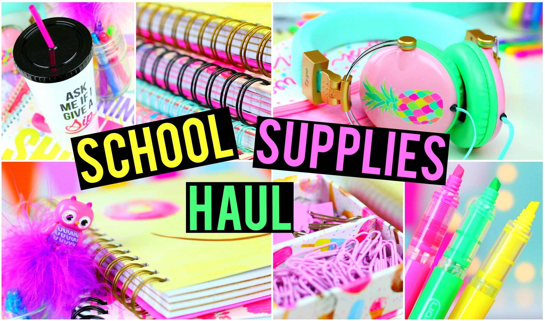 Back To School Supplies Haul Diy Back To School Supplies