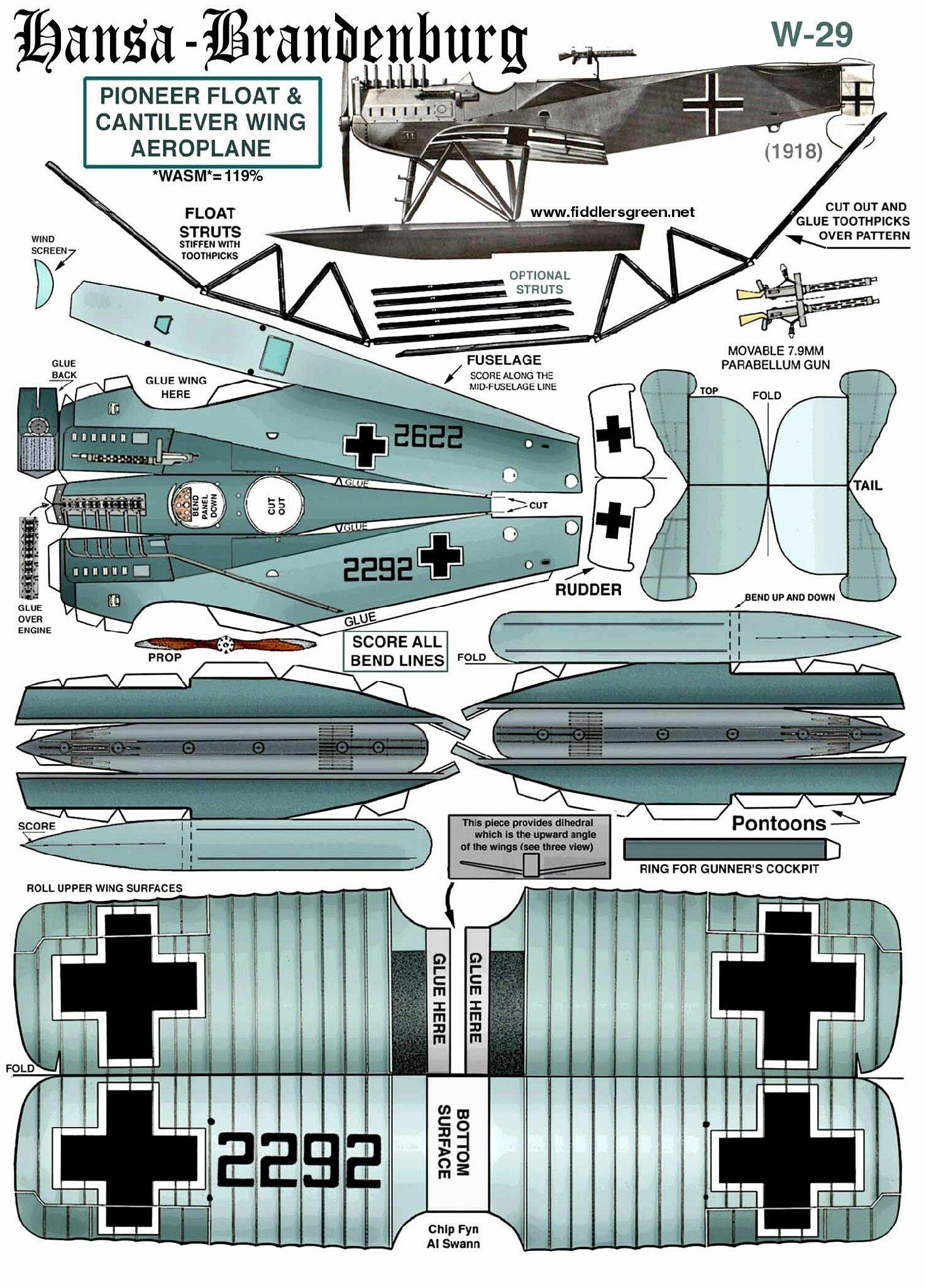 Hansa Brandenburg Aircraft | Hobby: Papercraft | Paper ...
