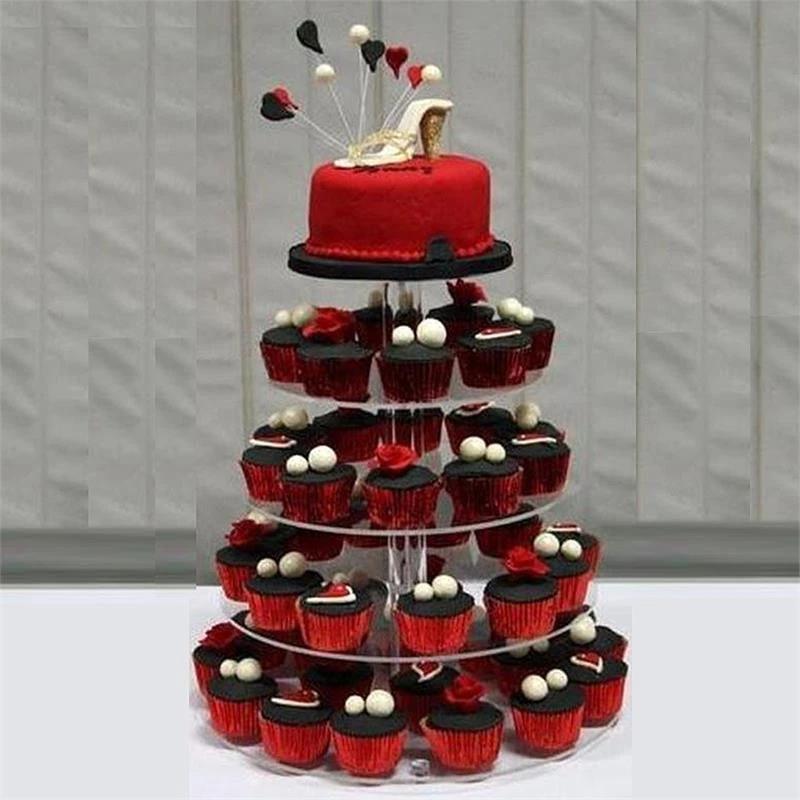 5 Tier 17 Round Acrylic Cake Stand Tiered Cupcake Stand Dessert Stand Acrylic Cake Stands Dessert Stand Cake And Cupcake Stand