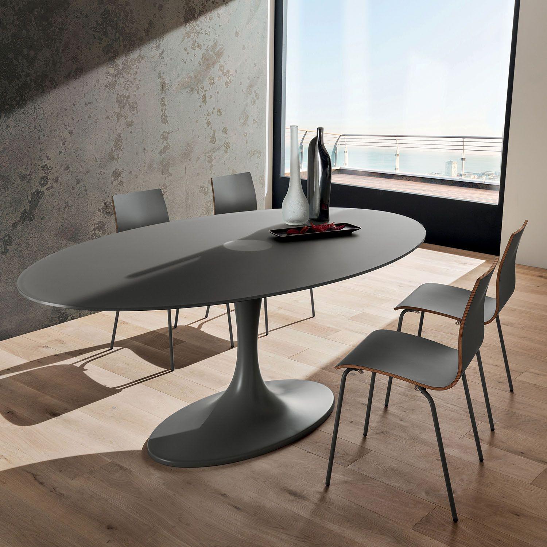 Tavolo da soggiorno ovale in legno rovere Dudley - DIOTTI ...