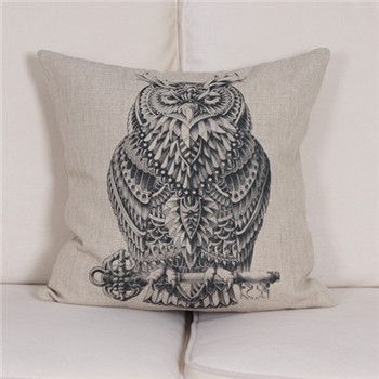 Animal Throw Pillows - Printed Wildlife Illustration Covers