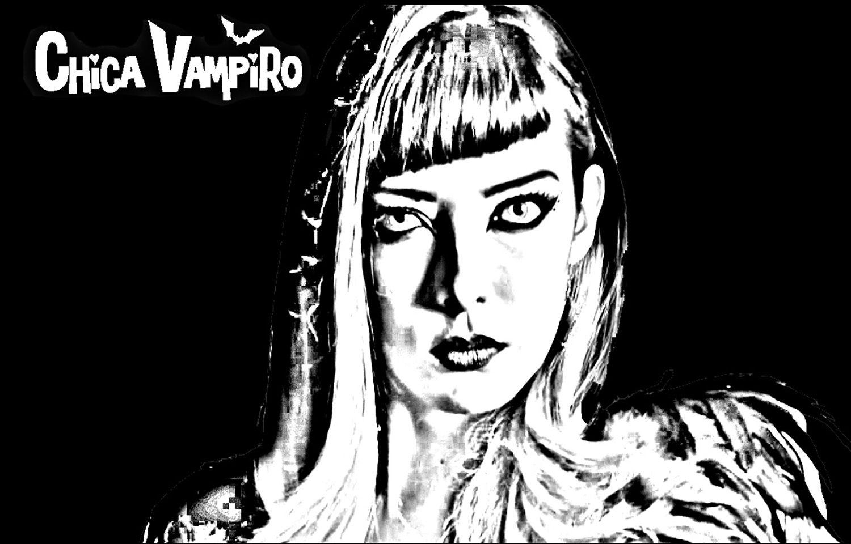 Chica Vampiro Catalina Fond Noir Coloriage Chica Vampiro