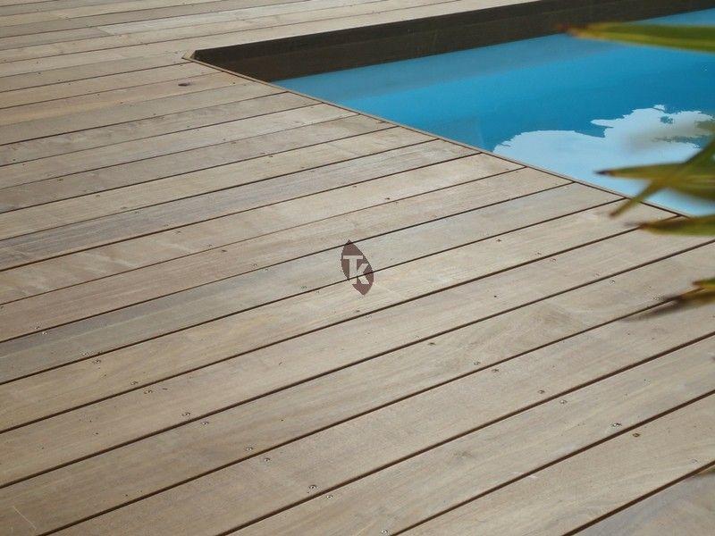 Lames de terrasse en bois exotique Ipé - grandes longueurs