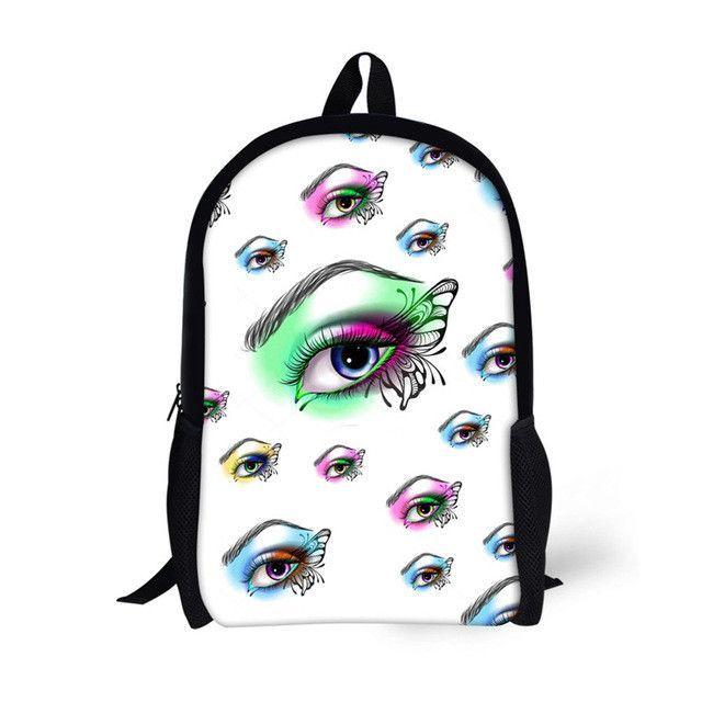 b5b4e79cb4 FORUDESIGNS Cat Eye School Bags for Girls Boys