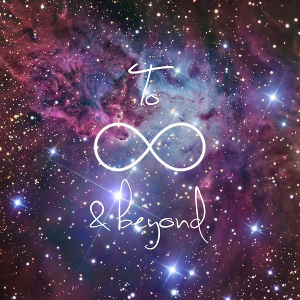 To Infinity and Beyond Galaxy Nebula Art Print | Infinity ...