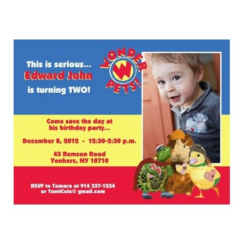 Wonder pets photo magnet birthday invitation they say its your wonder pets photo magnet birthday invitation filmwisefo
