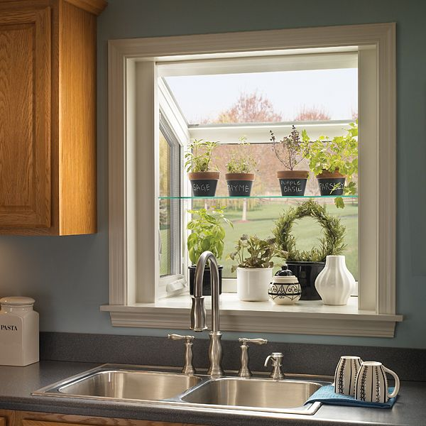 With Ply Gem Vinyl Garden Window Over Your Kitchen Sink You Might Just Love  Doing Dishes
