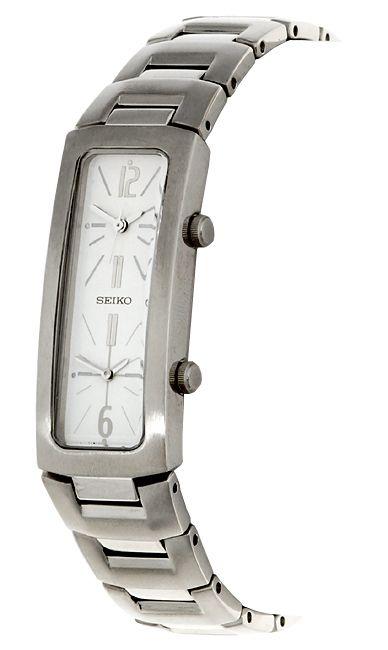Seiko Women's Stainless Steel Dual Time Zone Watch - Overstock™ Shopping - Big Discounts on Seiko Seiko Women's Watches