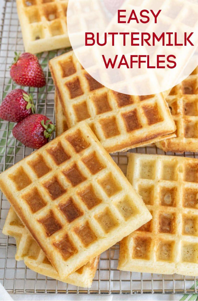 Easy Classic Fluffy Buttermilk Waffle Batter Recipe Recipe Waffles Recipe Homemade Waffle Batter Recipe Waffles Easy
