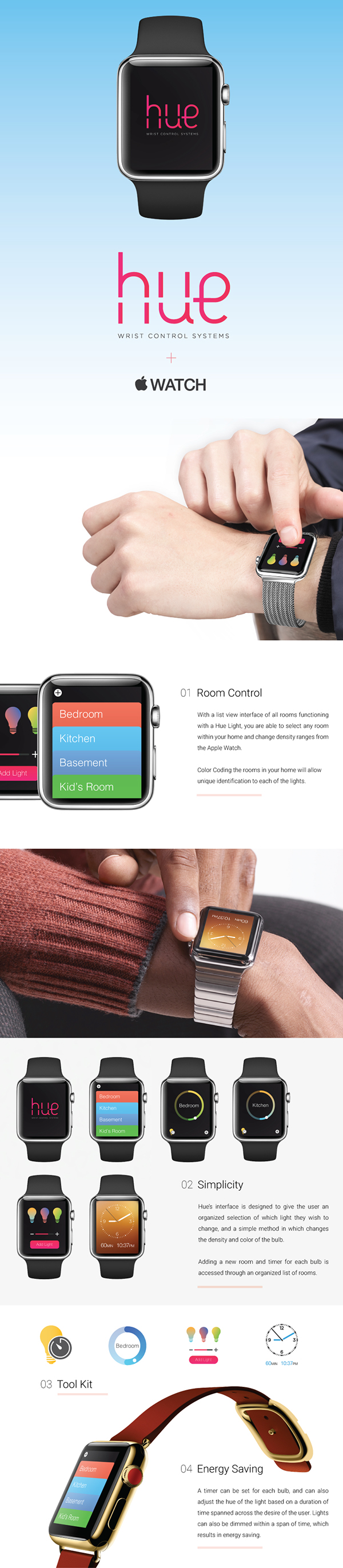 Philips Hue + Apple Watch Concept on Behance