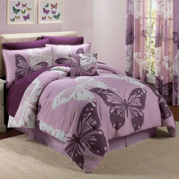 Purple Butterfly Bedding Purple Bedrooms Comforter Sets Bedding Sets