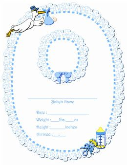 Free Printable Digital Scrapbook Pages Birth Announcement