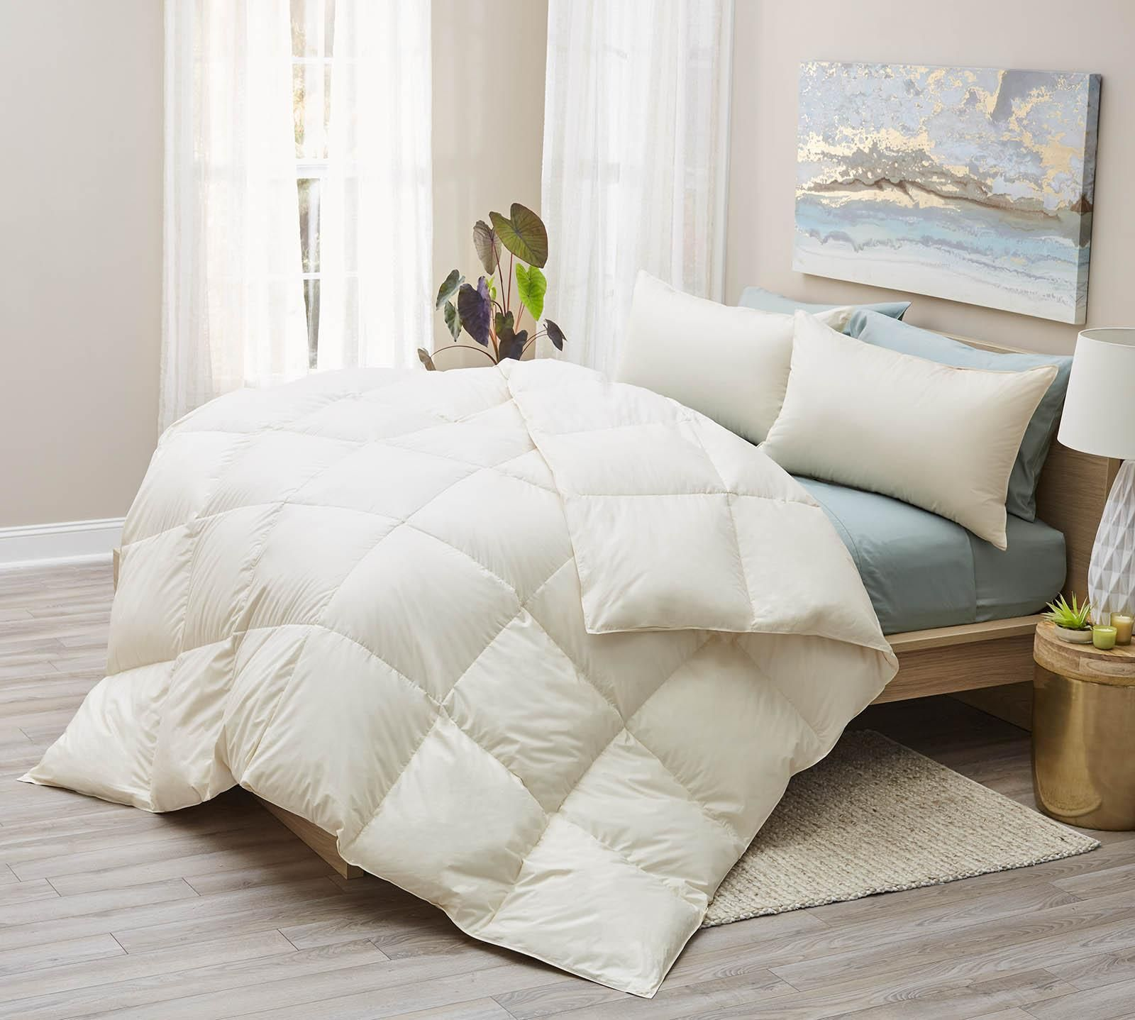 Shop For Your Lux Living Naturals Organic All Season Down Comforter At Mattress Firm This Cozy Comforter Will K Down Comforter Comforters White Down Comforter