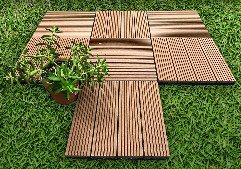 Ep Decking Composite Click Lock Locking Deck Tiles Mocha 12 X12