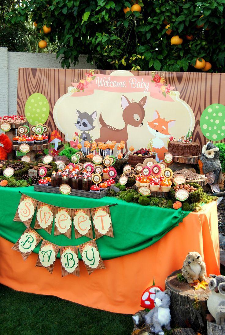 Wilderness Theme Baby Boy Shower Food Ideas