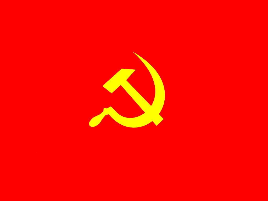 Communist Flag Hammer And Sickle Hammer And Sickle Communist Letters