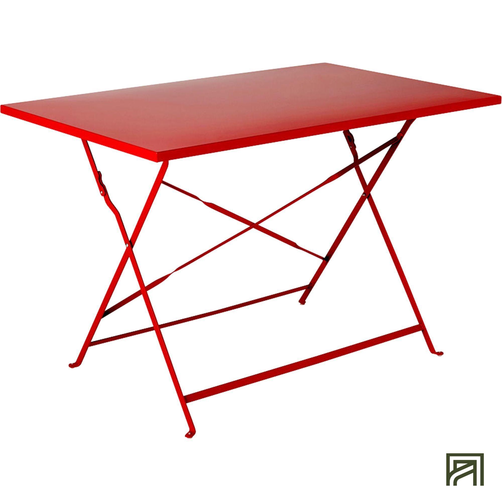 Pims Table de jardin pliante rouge en acier (2 à 4 places) | Pinterest