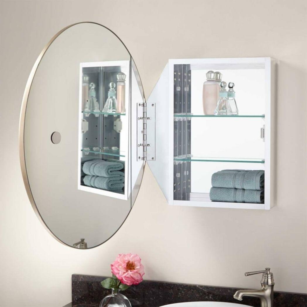 Large Round Bathroom Mirror Cabinet Homyracks