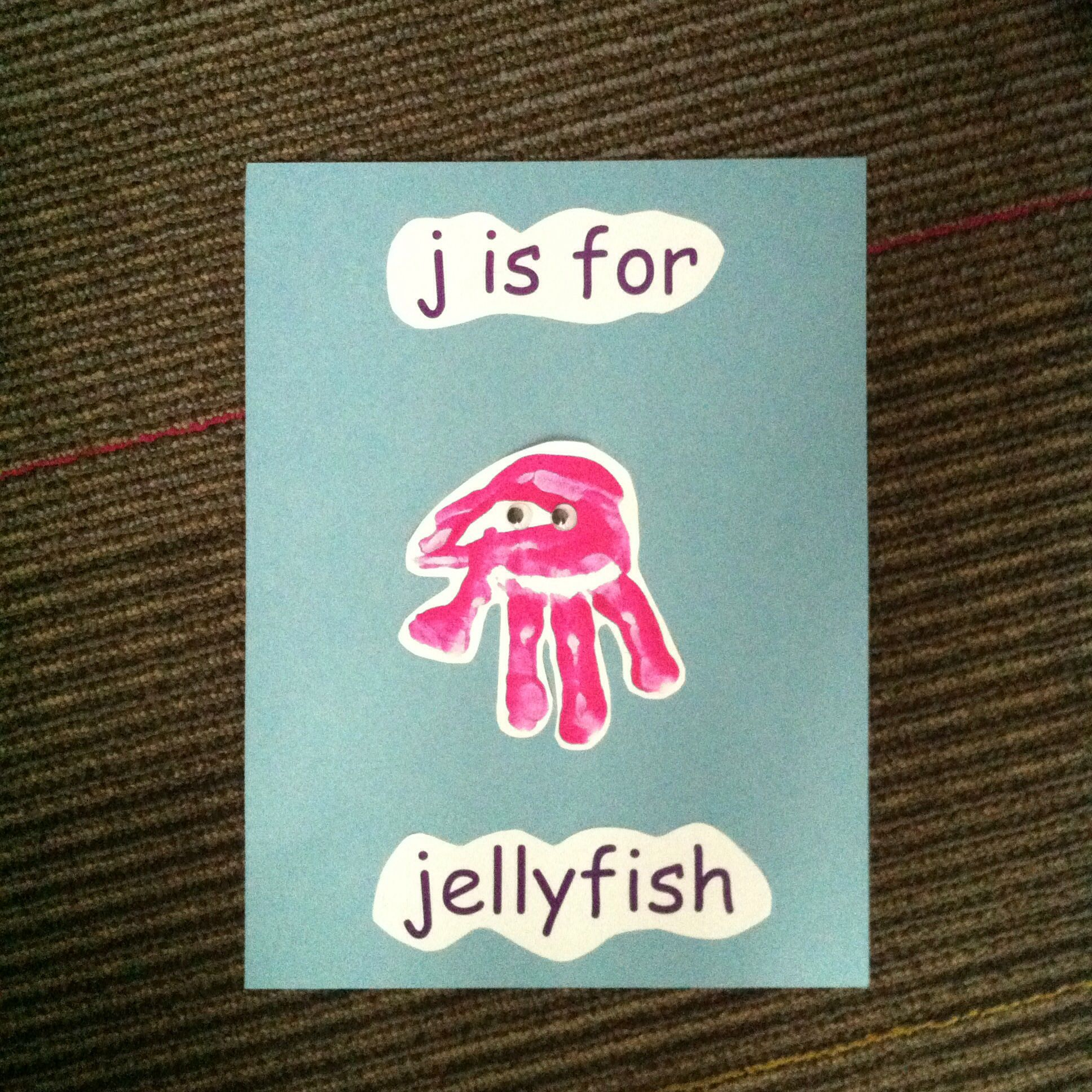 J Is For Jellyfish Handprint Pic