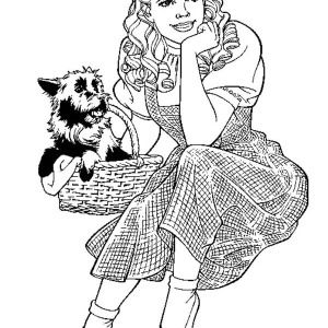 the wizard of oz dorothy and her pet toto in the wizard of oz coloring printable coloring sheetscowardly