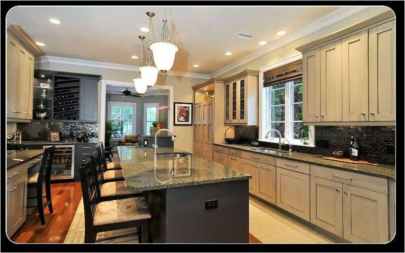 gray & black cabinets  Kitchens  Pinterest