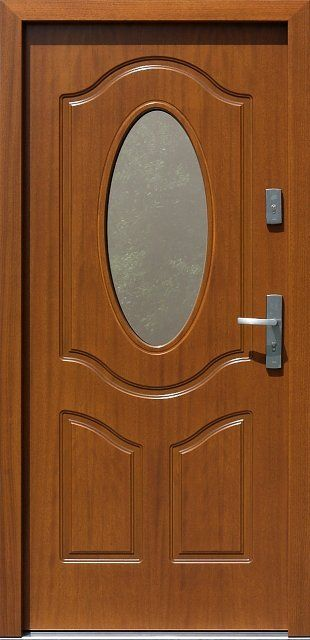 Classic wooden exterior door model 513s2 dark oak