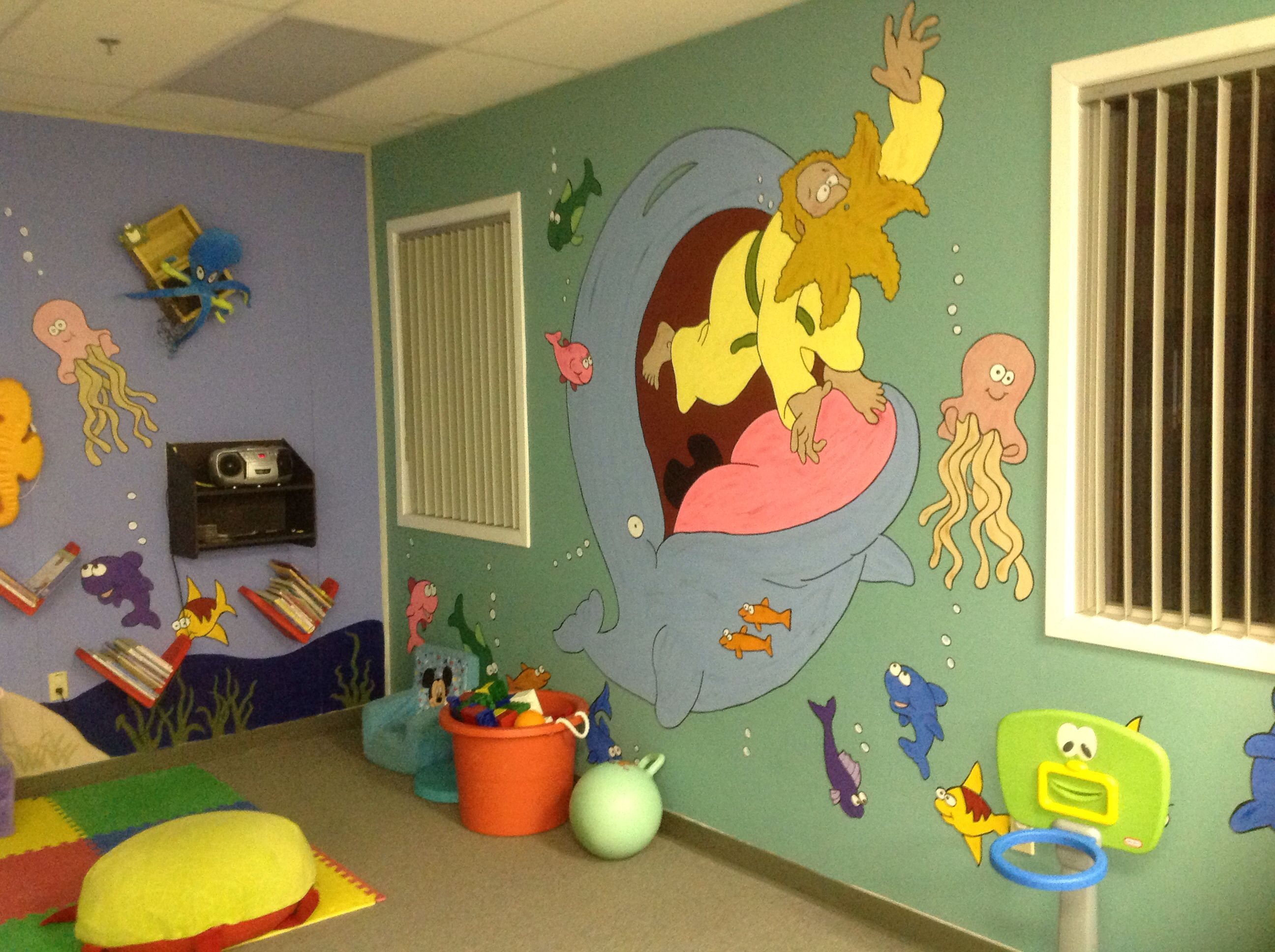 Jonah mural   Donnas crafting projects   Pinterest
