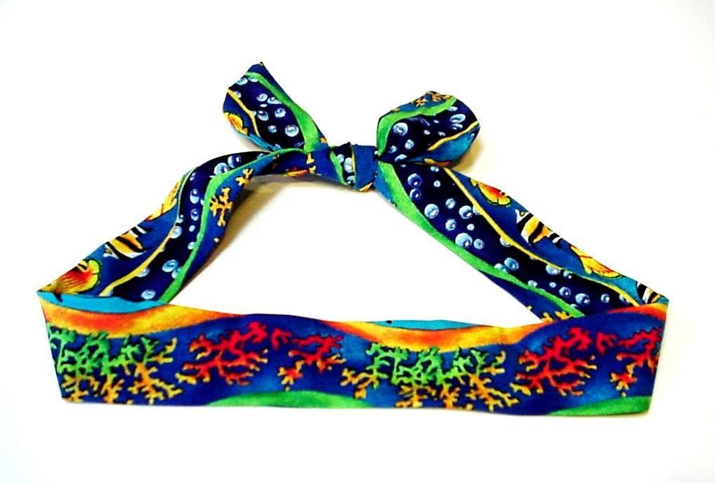 Tropical Cooling Headband Hawaiian Gel Neck Cooler Bandana Scarf