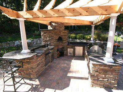 Wouldn T This Be Perfect By The Pool Outdoor Pizza Oven Kitchen Outdoor Kitchen Island Outdoor Patio Build Outdoor Kitchen