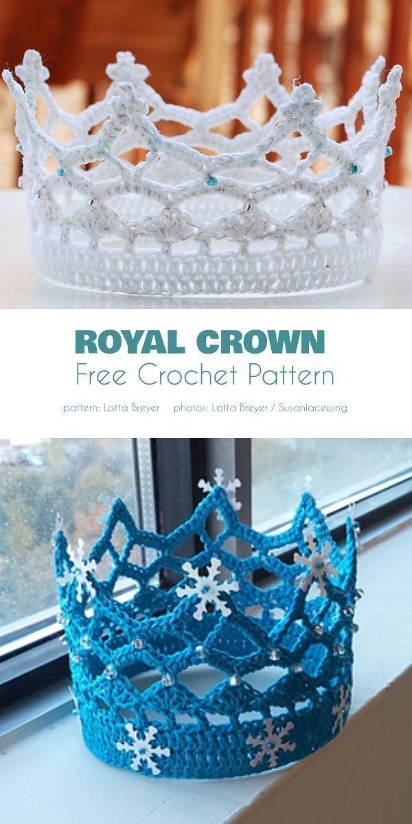 Photo of Krone kostenlose Häkelanleitungen  Diy Projekt #crownscrocheted Krone kostenlo …