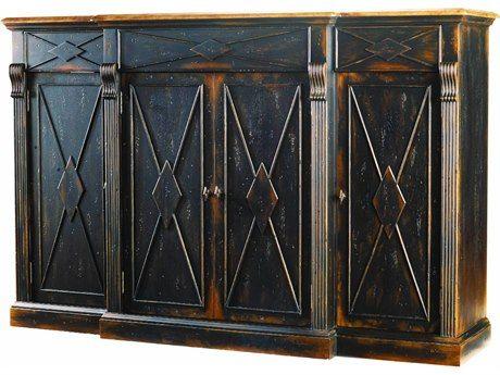 Hooker Furniture Sanctuary Ebony U0026 Drift X Rectangular Credenza Buffet