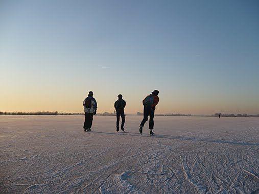 Schaatsen op het Kinselmeer