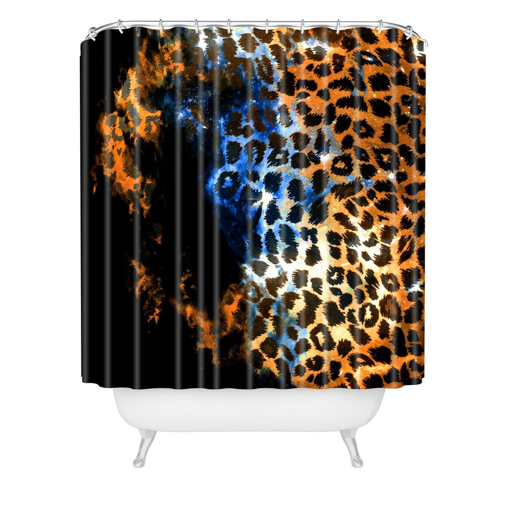 Caleb Troy Leopard Storm Shower Curtain | DENY Designs Home Accessories