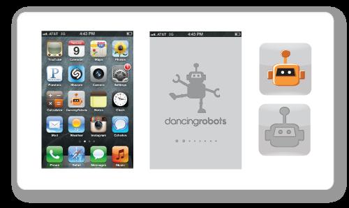 """App Development Branding: """"Dancing Robots"""""""